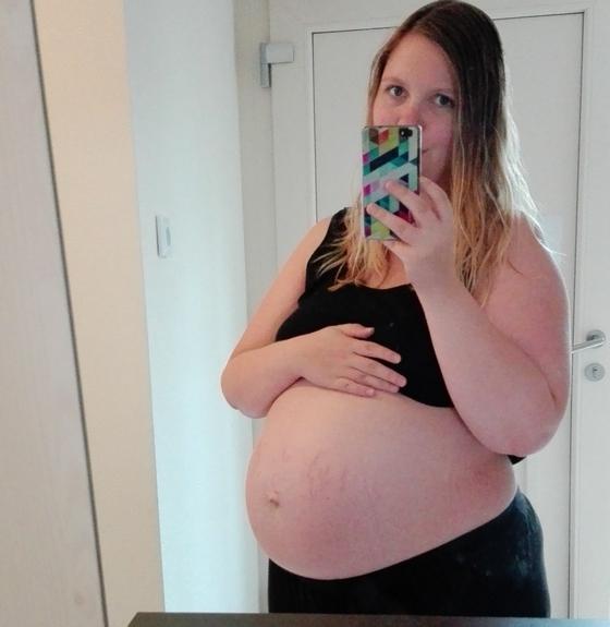 37 weken buik