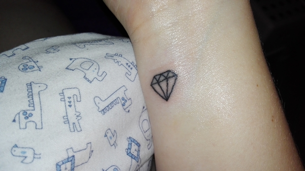 tatoeage diamant